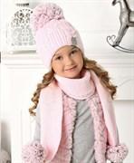 .AJS комплект 40-476 шапка подклад флис + шарф (р.52-54)
