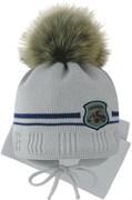 Grans комплект A 1096 ST шапка с утеплителем, подклад хлопок+шарф (р.42-44)