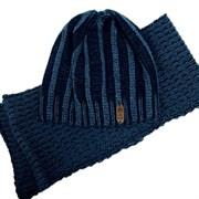 .AJS комплект 36-571 шапка двойная вязка + шарф (р.54-56)