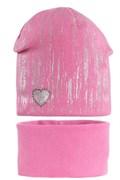 AGBO комплект 1865 Dafne шапка вязаная, подклад хлопок+снуд (р.50-52)
