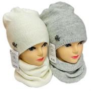 AGBO комплект 2676 Laguna шапка двойная вязка + снуд (р.52-54)