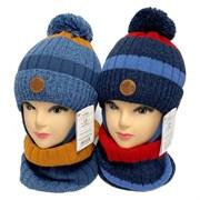 AGBO комплект 3133 Nokat шапка с утеплителем, подклад хлопок+снуд (р.50-52)