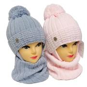 AGBO комплект 3164 Florenja1 шапка с утеплителем, подклад хлопок+снуд (р.50-52)