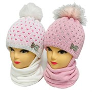 GRANS комплект A 1042 ST шапка на утеплителе + снуд (р.46-48)