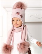 .AJS комплект 40-450 шапка подклад флис + шарф (р.52-54)