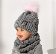.AJS комплект 40-443 шапка на флисе +снуд (р.52-54)