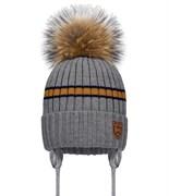 Barbaras модель WN 330/JL шапка на утеплителе, подклад хлопок(р.50-52) енот