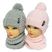 GRANS комплект A 1054 ST шапка на утеплителе + снуд (р.48-50)