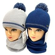 AGBO комплект 2213 Alfred шапка с утеплителем, подклад хлопок+снуд (р.48-50)