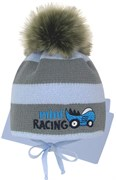 Grans комплект A 1095 ST шапка на утеплителе+шарф (р.42-44)