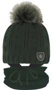 GRANS комплект  A 1112 ST шапка вязаная с утеплителем+снуд (р.50-52)