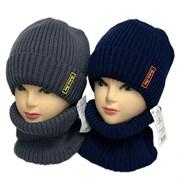 AGBO комплект 3023 Akant шапка подклад флис + снуд (р.52-54)