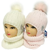 GRANS комплект A 1047 ST шапка на утеплителе + снуд (р.50-52)