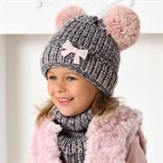 .AJS комплект 40-491 шапка на флисе +снуд (р.52-54)