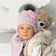 .AJS комплект 40-405 шапка, подклад флис + шарф (р.44-46)