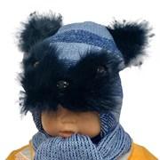 ambra комплект T 23 шапка с утеплителем, подклад хлопок+шарф (р.48-50)