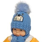 ambra комплект S8 шапка с утеплителем, подклад хлопок+ шарф (р.46-48)