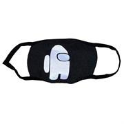 светоотражающая маска на лицо, рисунок: светящийся астронавт серая