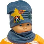 ambra комплект шапка двойной трикотаж + снуд (р.44-46) звезда 55