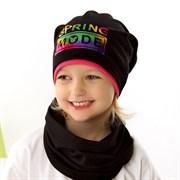 .AJS комплект 42-071 шапка одинарный трикотаж + снуд (р.48-50, 52-54)