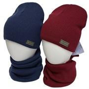 GRANS комплект K 505 ACR-D шапка вязаная, подклад хлопок + снуд (р.52-54)