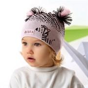 .AJS шапка 42-068 двойная-тонкая вязка (р.48-50)