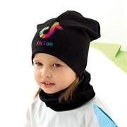 .AJS комплект 42-090 шапка двойной трикотаж и снуд (р. 48-50, 52-54)