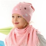 .AJS комплект 42-070 шапка одинарная вязка + косынка (р.52-54)