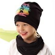 .AJS комплект 42-086 шапка одинарный трикотаж + снуд (р.44-46, 48-50, 52-54)