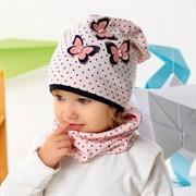 .AJS комплект 42-029 шапка одинарный трикотаж и снуд (р.44-46, 48-50, 52-54)