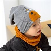 .AJS комплект 42-053 шапка одинарный трикотаж + снуд (р.44-46, 48-50)