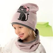 .AJS комплект 42-089 шапка одинарный трикотаж + снуд (р.44-46, 48-50)