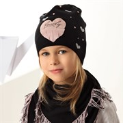.AJS комплект 42-166 шапка одинарная вязка + косынка (р.52-54)
