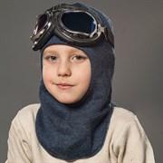 Milli шлем модель Эльбрус+очки, на хлопке (на 6 лет) демисезонный