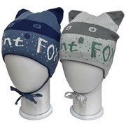 LAMIR шапка Фокс P156 вязаная, подклад хлопок (р.50-52)