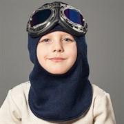 Milli шлем модель Эльбрус+очки, на хлопке (на 4 лет) демисезонный