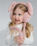 Меховые наушники для девочек с  ушками (one size) Зайчик
