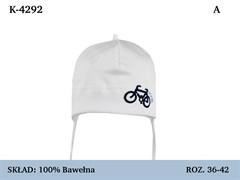Magrof шапка 4292 одинарный трикотаж с сеткой, с завязками  (р.36-44)