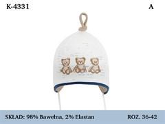 Magrof шапка 4331 одинарный трикотаж с завязками  (р.36-44)