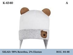 Magrof шапка 4340 одинарный трикотаж с завязками  (р.44-50)
