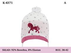 Magrof шапка 4371 одинарный трикотаж с завязками  (р.38-44)