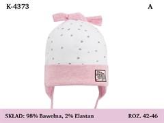 Magrof шапка 4373 одинарный трикотаж с завязками  (р.42-48)