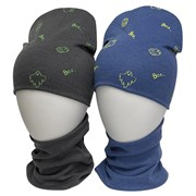 LAMIR комплект Каспер шапка двойной трикотаж + снуд (р.50-52)