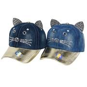 бейсболка джинсовая (р.52-54) кошка