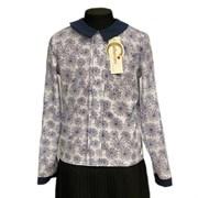 Catherine блузка длинный рукав, прямая, паутина, белая (р-ры128-158)
