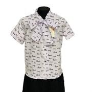 Catherine блузка короткий рукав, прямая, белая Love (р.158-170)