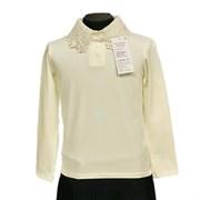 блузка ЛЮТИК модель 10119 длинный рукав трикотажная, кремовая (р.128,134,140,146,152,158)