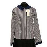 Catherine блузка длинный рукав, прямая, полоска (р.128-158)