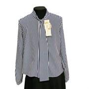 Catherine блузка длинный рукав, прямая, полосатая (р.128-158)