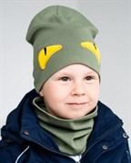 Milli комплект модель Монстро шапка +снуд, двойной трикотаж (р.48-54)